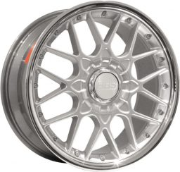 BBS - RSII (Forged Split Rim) Rs2 (Decor Silver With Stainless Rim)