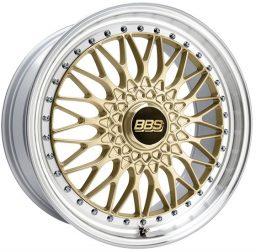 BBS - Super Rs (Forged Split Rim) (Gold With Polished Rim)