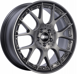BBS - CH-R II (Flow-Formed Split Rim) (Satin Anthracite with Stainless Steel Rim Protector)