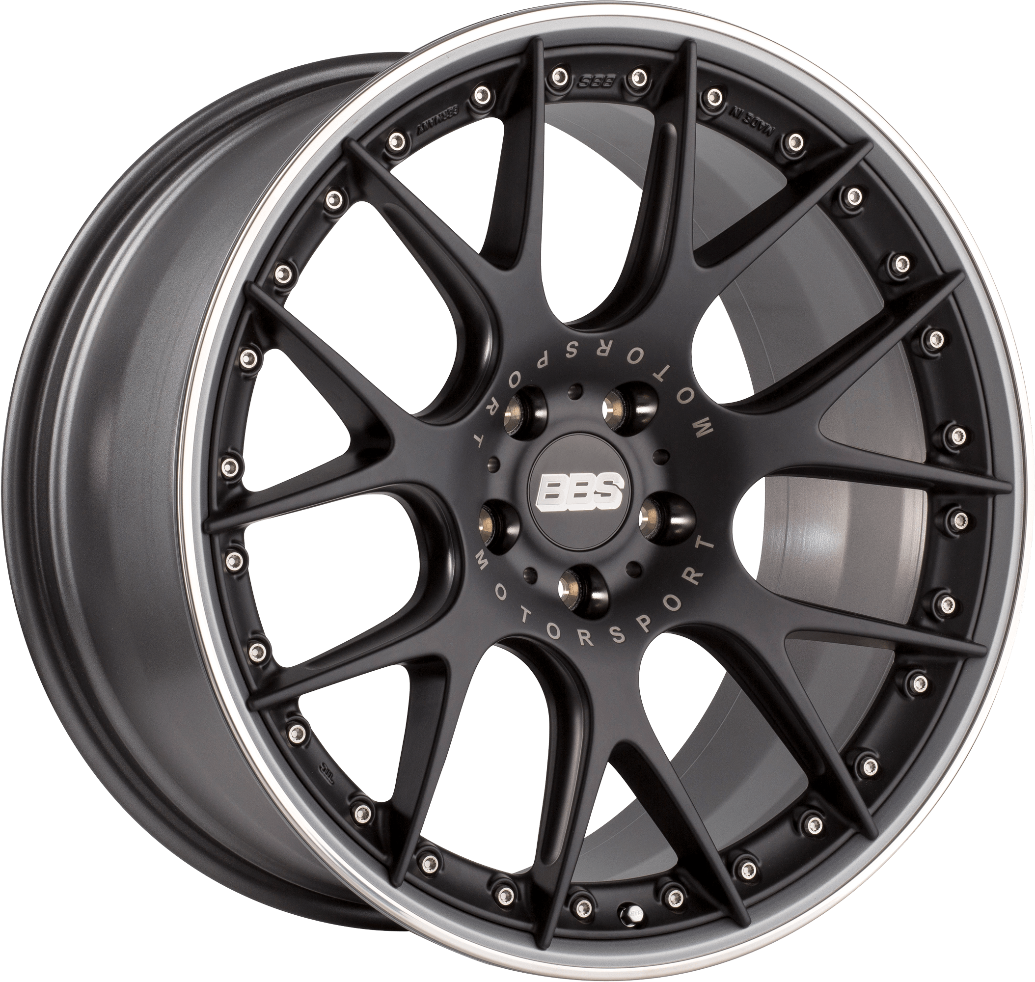 BBS - CH-R II (Flow-Formed Split Rim) (Satin Black with Stainless Steel Rim Protector)