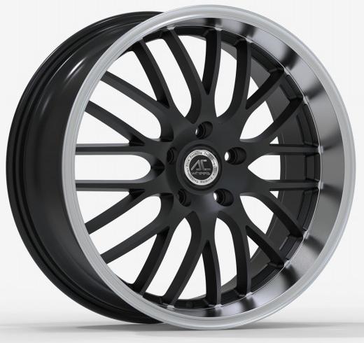 AC Wheels - Hypnotic (Matt Black Polished Lip)