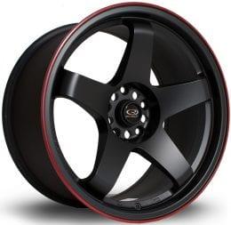 Rota - GTR (Flat Black / Red Lip)